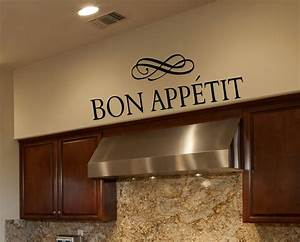 kitchen wall decals bon appetit wall decals by amanda With kitchen colors with white cabinets with bon appetit wall art