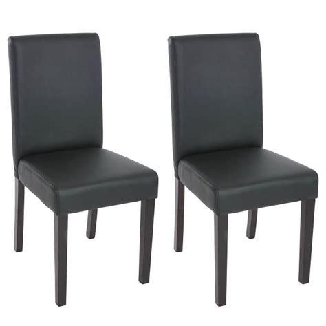 chaise salle a manger noir 2 chaises de salle à manger similicuir noir mat achat vente chaise bois plastique cuir