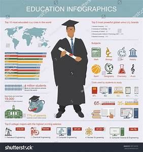 Education Infographic Symbols Icons Design Elements Stock