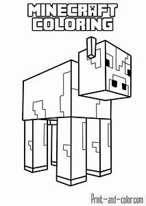 Minecraft Coloring Pages Print And Colorcom