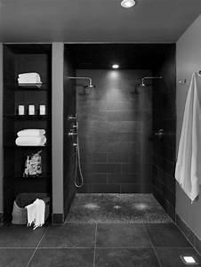 Déco Salle De Bain Noir Et Blanc : salle de bain noir et blanc ~ Melissatoandfro.com Idées de Décoration