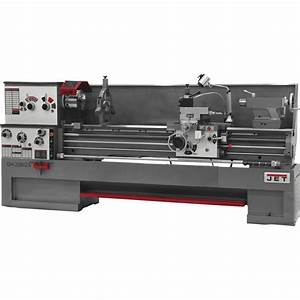 Free Shipping  U2014 Jet Zx Large Spindle Bore Metal Lathe