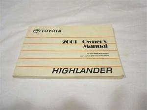2001 Toyota Highlander Owner Manual In Good Clean