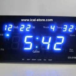 Jam Dinding Digital 2159 Merah jam dinding digital led tipe 2159 biru ical store ical
