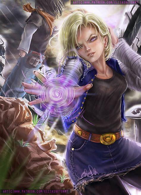 artstation androids future dbz elcias neto dragon