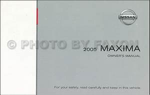 2005 Nissan Maxima Owners Manual New Original Oem Owner