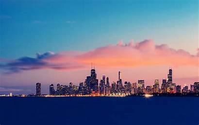 Chicago Michigan Sky Usa Lake Illinois Clouds