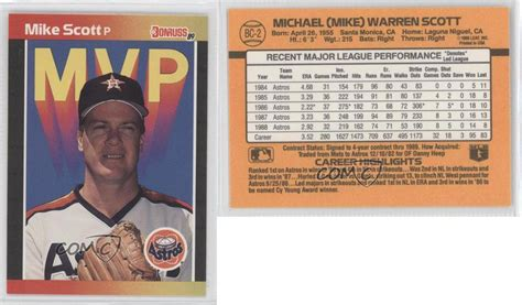 We did not find results for: 1989 Donruss MVP #BC-2 Mike Scott Houston Astros Baseball Card | eBay