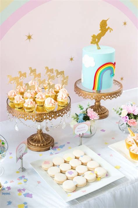 karas party ideas floral rainbow glam unicorn birthday