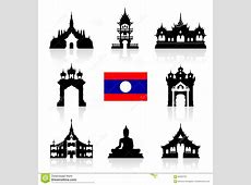 Laos Icon Travel Landmarks Stock Vector Image 60333702