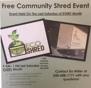 free paper shredding shred days community shredding With document shredding maryland