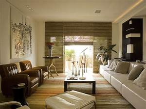 japanese inspired living room with bamboo curtains With bamboo curtains in living rooms