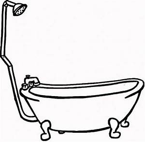 How To Draw Bathtub  Bath Line Drawing Clipart Best  Eps