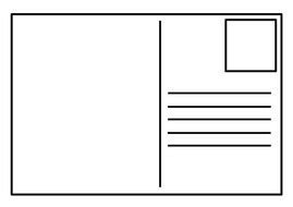 blank postcard template teaching resources