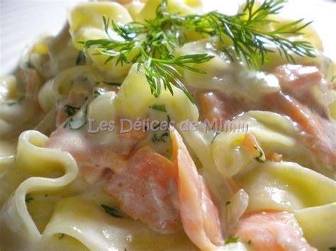 recettes pates au saumon