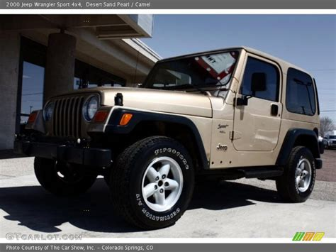 desert jeep wrangler 2000 jeep wrangler sport 4x4 in desert sand pearl photo no