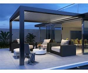 Store Terrasse Pas Cher : pergola aluminium pour terrasse maison parallele ~ Melissatoandfro.com Idées de Décoration