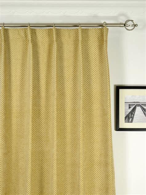 Single Pleat Drapes - coral regular spots single pinch pleat chenille curtains
