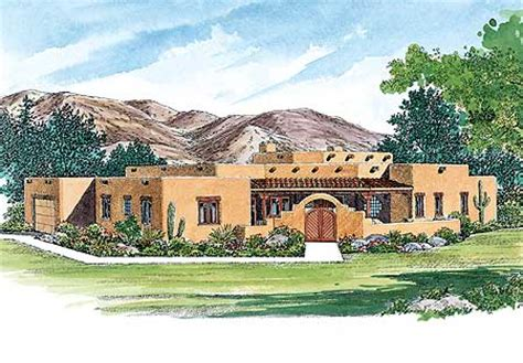 creative sante fe style home plan  architectural designs house plans