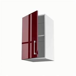 Porte Meuble Cuisine : meuble de cuisine haut rouge 1 porte griotte x x cm leroy merlin ~ Teatrodelosmanantiales.com Idées de Décoration