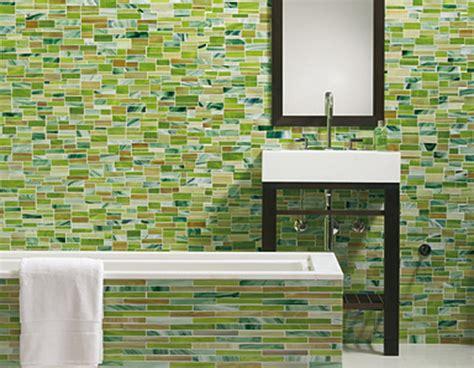Green Bathroom Wall Tile Design Ideas