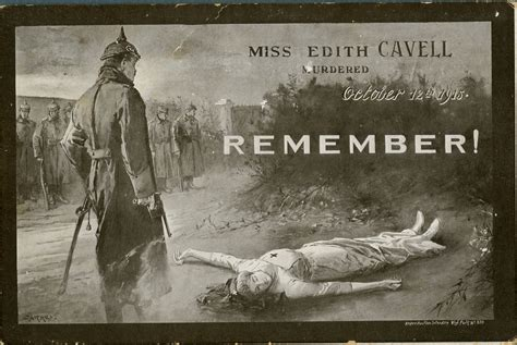Anti-German Materials - Remember Edith Cavell | Canada and ...