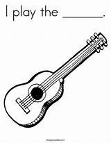 Coloring Mandolin Template Guitar sketch template