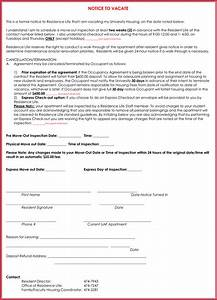 notice to vacate premises sample 30 day notice letter templates 12 samples in word pdf