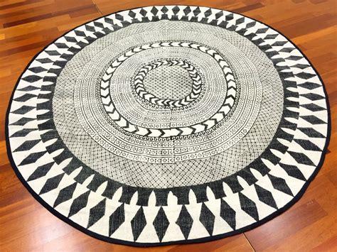 tapis rond marrakech rond noirgrisblanc