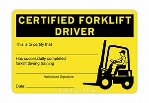 3 pre printed certified forklift driver id card ebay With forklift operator certification card template