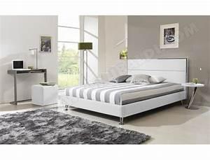 Cadre Lit 140x190 : lit d co ub design lit happy 140x190 blanc pas cher ~ Dallasstarsshop.com Idées de Décoration