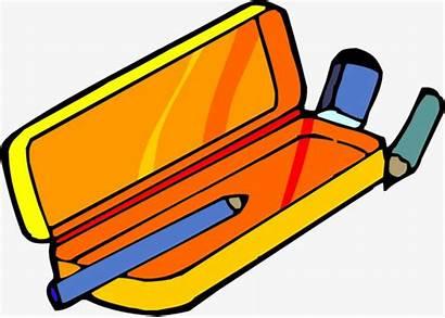 Pencil Case Clipart Box Stationery Clipartix Cliparts