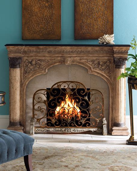 ambella arched fireplace screen