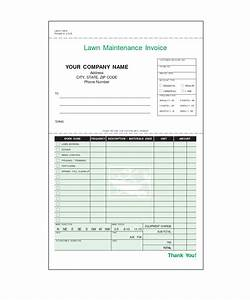 lawn care invoice template invoice sample template With lawn service invoice template