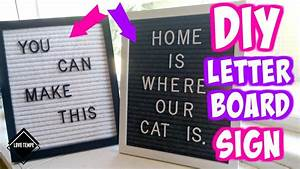 diy felt letter board sign youtube With felt sign board letters