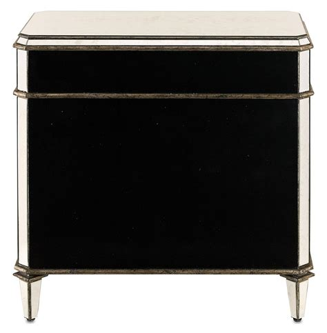 Antique Mirrored Nightstand by Regency Antique Mirror Nightstand Kathy Kuo Home