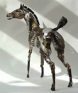 amazing animals made from recycled scraps of metal With birds made from recycled metal scraps by barbara franc