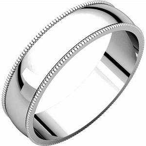 n23875pp platinum 5mm wide milgrain edge plain wedding ring With milgrain edge wedding ring