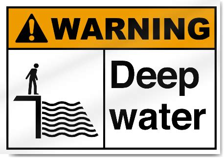 Trigger Warning Template For Shows by Deep Water Warning Signs Signstoyou
