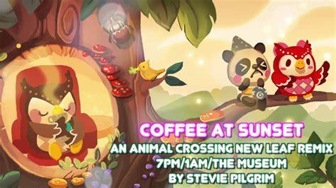 coffee  sunset animal crossing  leaf pm