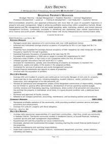 property management objective resume residential property manager resume sles resume template exle