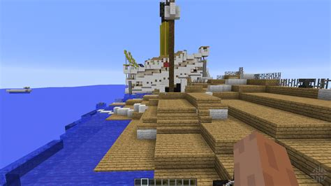 The Sinking Of The Britannic Minecraft by H M H S Britannic Sinking For Minecraft