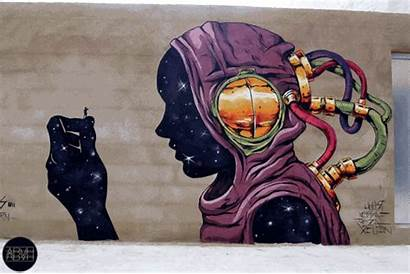 Gifs Street Animated Mural Abvh Graffiti Artist