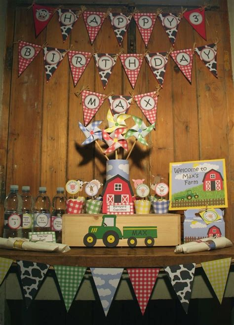 images  farm birthday party  pinterest