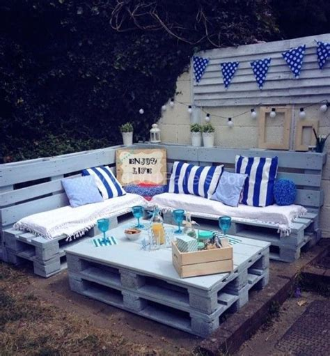 nautical table ls pallet garden nautical furniture set and sign 1001