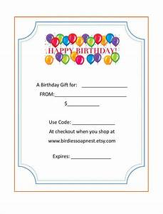 free birthday gift certificate template gift ftempo With birthday gift certificate template free download