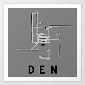 Den Airport Diagram Art Print By Vidaloft