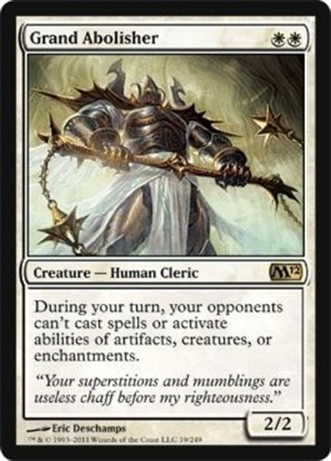 mtg white deck modern magic the gathering creature human cleric grand