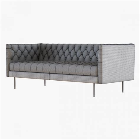 west elm modern chesterfield leather sofa model cgstudio