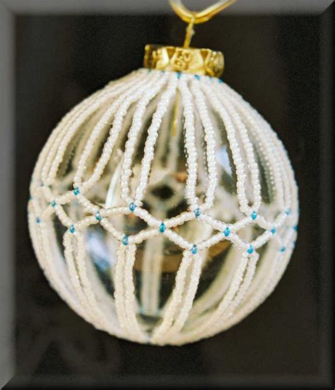 free beaded christmas ornament covers jewelry holidays